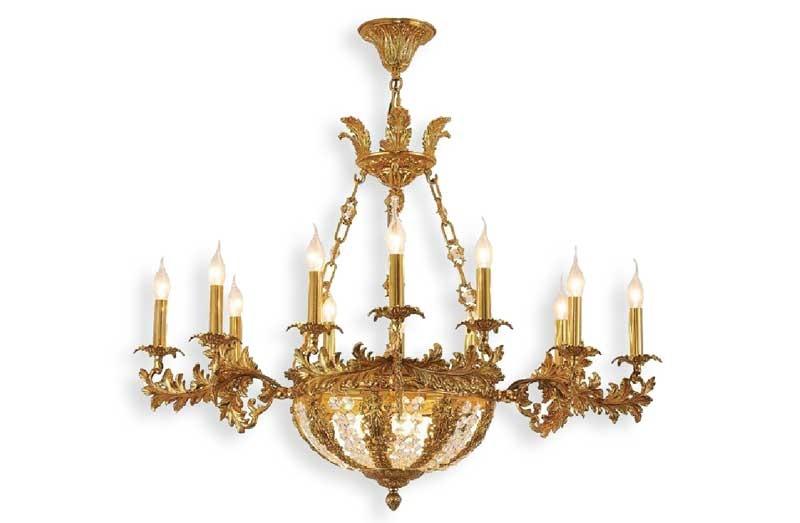 Mẫu đèn chùm phòng khách chung cư HT63 giá rẻ