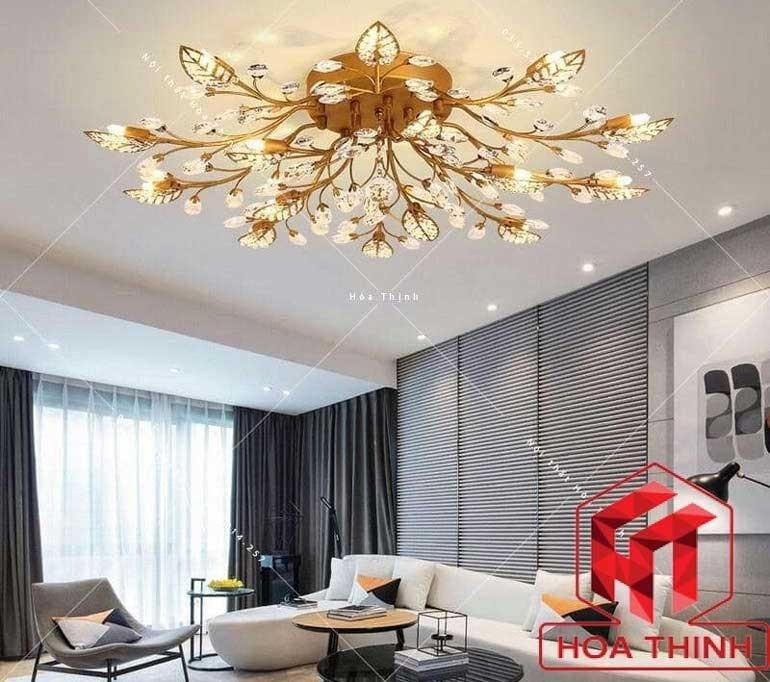 Đèn chùm trang trí phòng khách nhà chung cư - Đèn chùm phòng khách chung cư