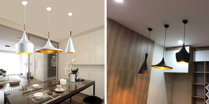 Đèn trần trang trí phòng khách nhà chung cư - Đèn trang trí phòng khách chung cư hiện đại