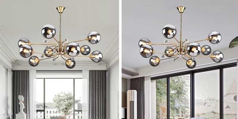 Đèn thả trần trang trí phòng khách nhà chung cưAnson HTDT-28 (10 bóng)