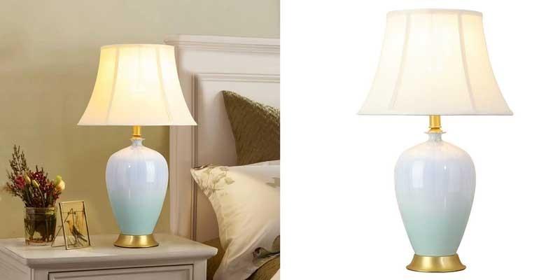Đèn trang trí phòng khách nhà chung cư để bàn