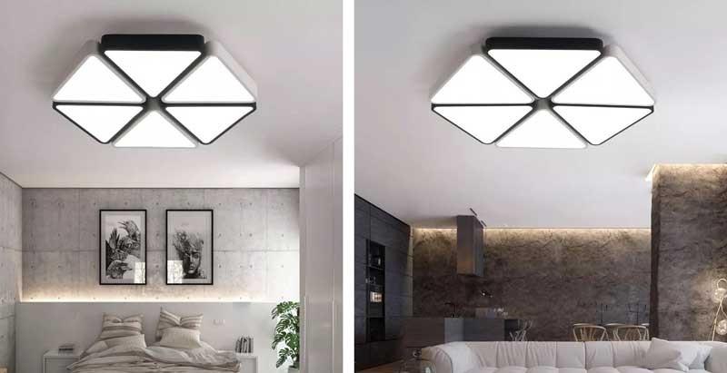 Đèn trang trí phòng khách chung cư - Mẫu đèn trang trí chung cư ốp trần