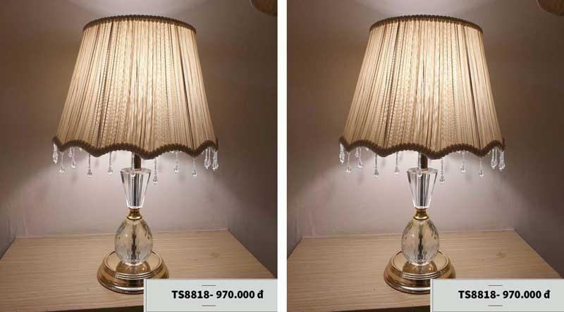 Mẫu đèn phòng khách chung cư để bàn - Đèn trang trí phòng khách chung cư để bàn