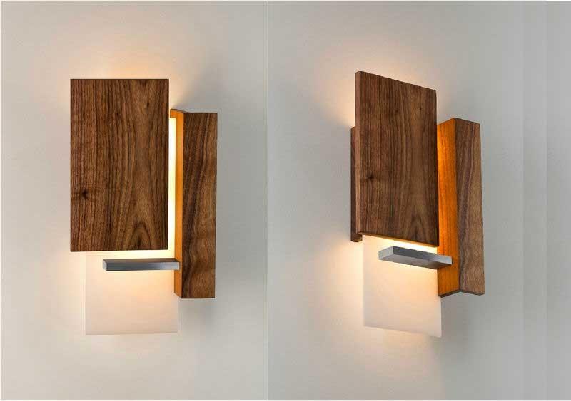 Đèn ốp tường đẹp bằng gỗ - Đèn gắn tường trang trí bằng gỗ - Đèn treo tường bằng gỗ đẹp