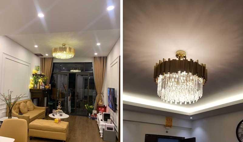 Các mẫu đèn chùm pha lê đẹp hiện đại tán quang ánh sáng tốt