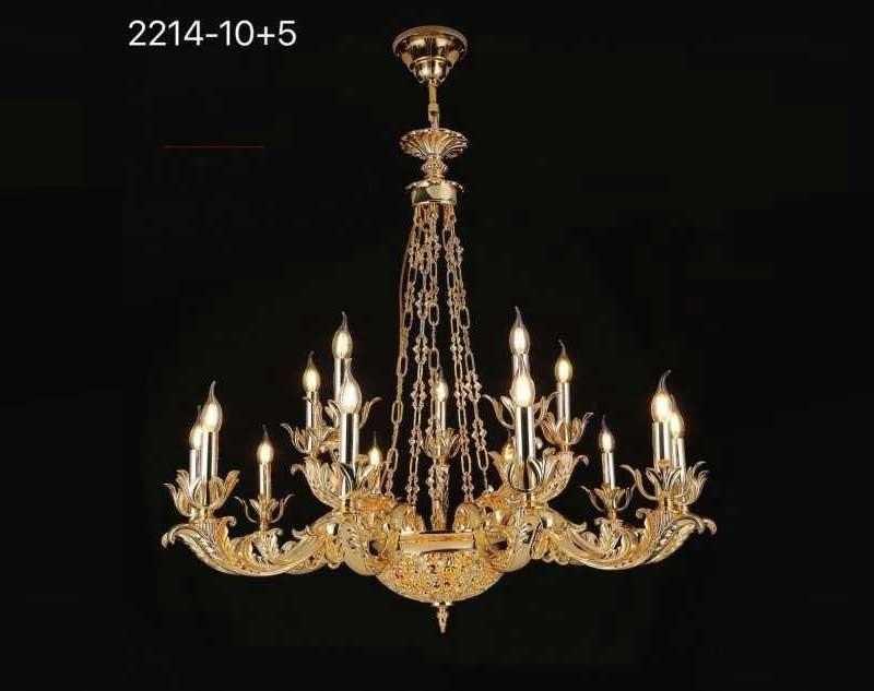 Đèn chùm pha lê nến phong cách hoàng gia - Đèn chùm nến trang trí pha lê