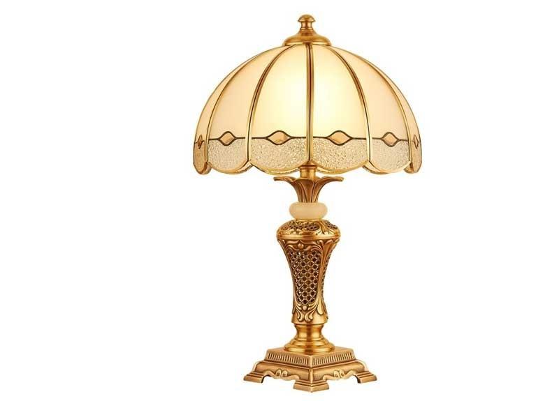 Đèn bàn decor đẹp đồng HT-42,đèn decor phòng ngủ để bàn