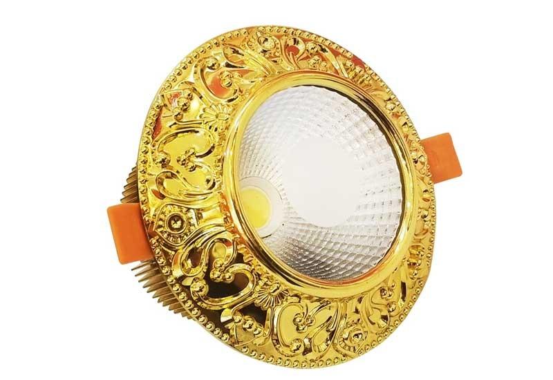 đèn led âm trần viền vàng