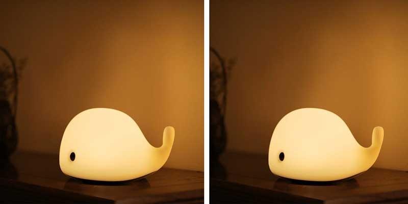 Đèn ngủ mini hình cá voi con cắm điện
