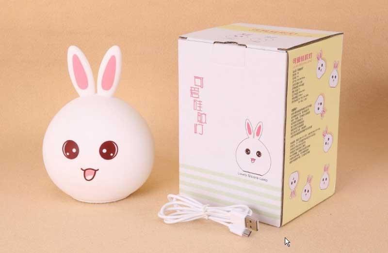 Đèn ngủ mini hình con thỏ siêu dễ thương