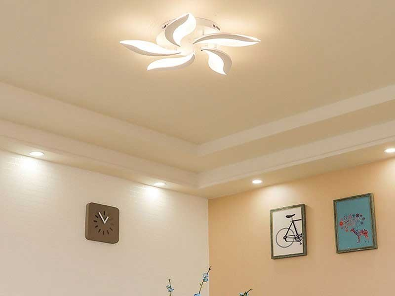 Đèn LED ốp trần ban công đẹp - Đèn ốp trần ban cônggiá rẻ HTM54 hình bông hoa