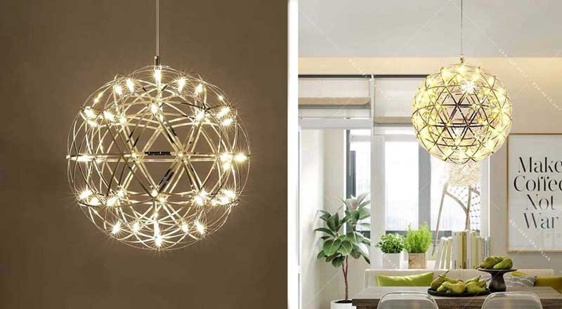 Đèn LED thả trần văn phòng - Đèn văn phòng thả trần hình quả cầu
