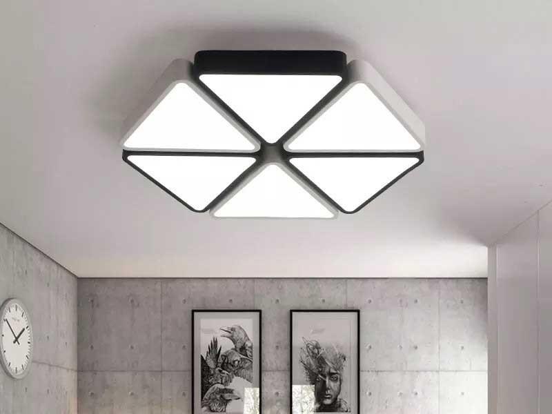 Đèn trần phòng khách hiện đại - Đèn Ốp Trần trang trí phòng khách hiện đại