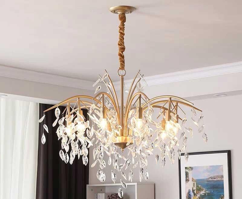 Đèn thả trần phòng khách hiện đại lá liễu - Đèn trần phòng khách hiện đại lá liễu