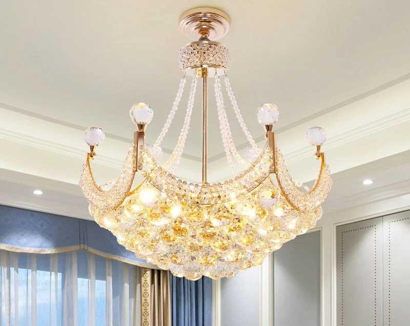 Đèn trần phòng khách hiện đại chùm - Đèn thả trần phòng khách hiện đại