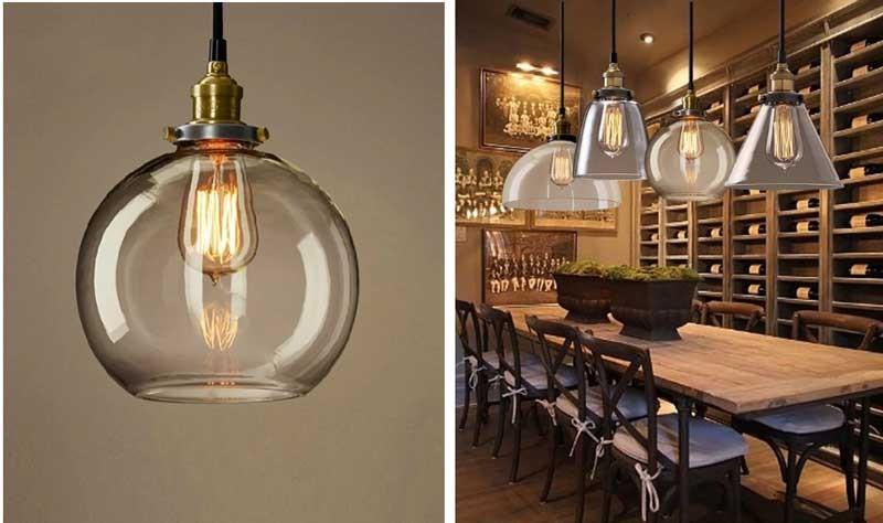 trang trí đèn cho quán cafe