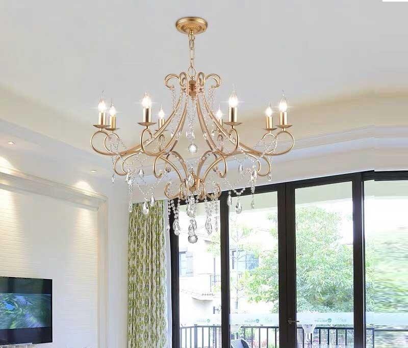 đèn chùm pha lê phòng khách