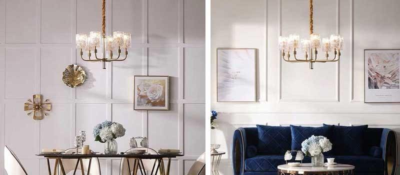 đèn chùm phòng khách đơn giản