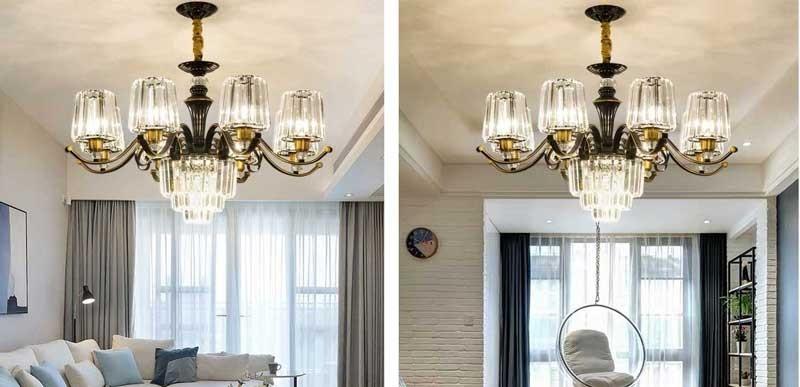 Đèn chùm led hiện đại cho phòng khách