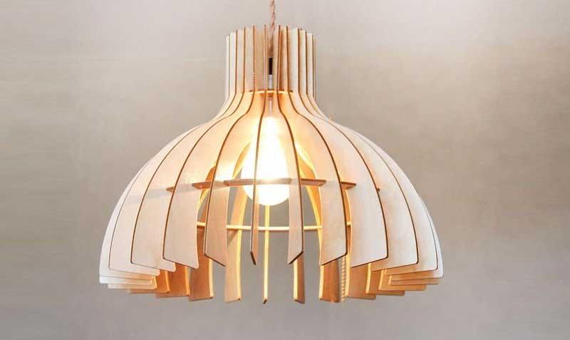 Đèn gỗ thả trần trang trí phòng ngủ DG291 - Đèn thả trần bằng gỗDG291 phòng ngủ