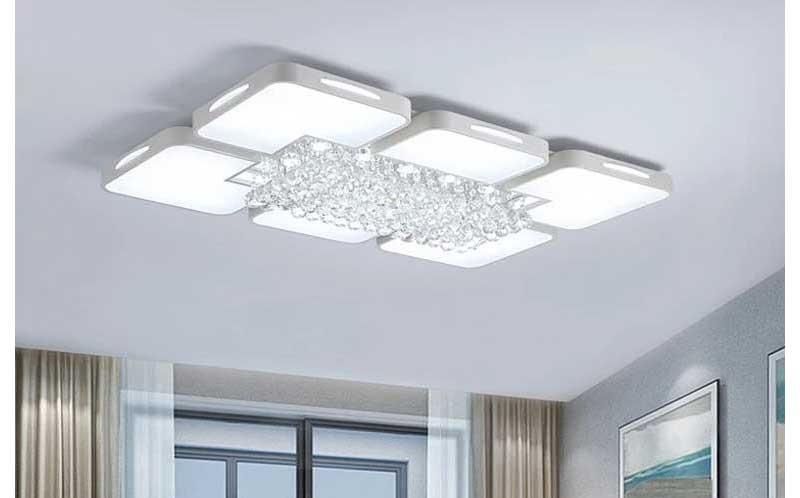 đèn mâm ốp trần phòng khách