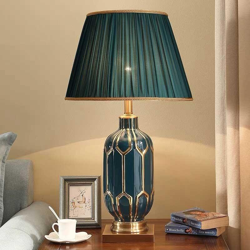 Đèn ngủ cắm ổ điện để bàn gốm sứ - Đèn trang trí phòng ngủ cắm ổ điện để bàn