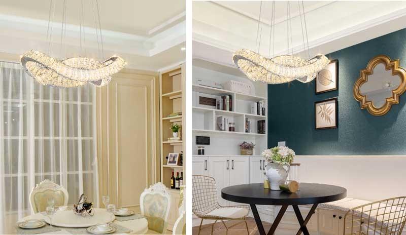 Đèn thả trần phòng bếp pha lê cao cấp - Đèn thả trần phòng bếp hiện đại