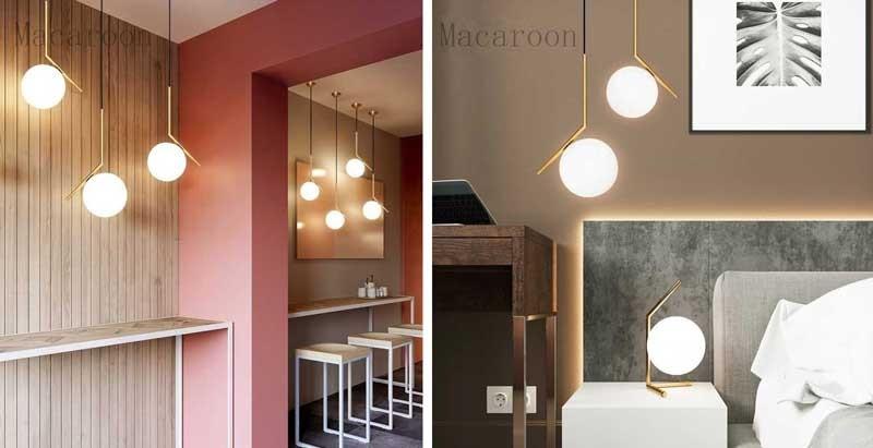 đèn trần trang trí phòng bếp