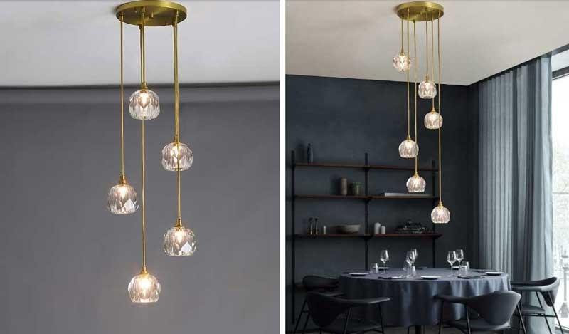 Đèn LED thả quầy barđơn giản đẹp HTPL-40