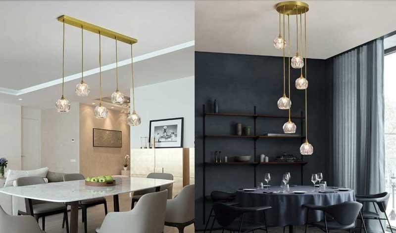 Đèn trang trí nhà hàng pha lê cao cấp - Đèn thả trần trang trí nhà hàng giá rẻ HTPL-40