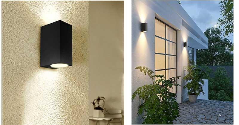 Đèn hắt tường ngoài trời đơn giản - Đèn LED trang trí hắt tường ngoài trời hiện đại