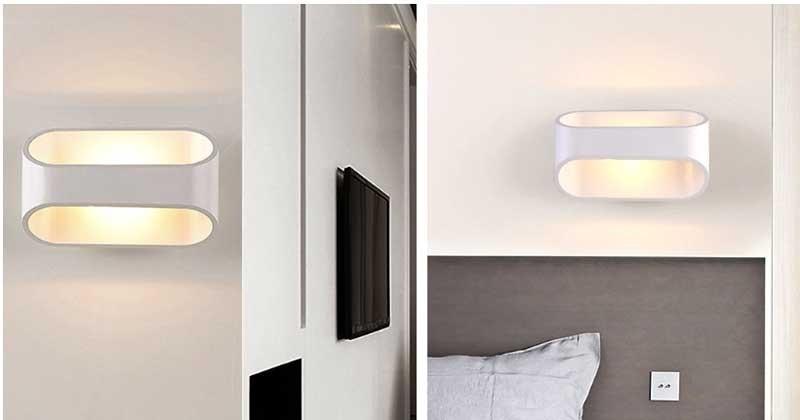 Đèn hắt tường trang trí hiện đại bo tròn - Đèn hắt chân tường cầu thang hiện đại
