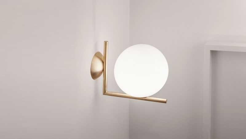 Đèn ngủ cắm tường hình cầu - Đèn cắm tường phòng ngủ quả cầu