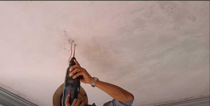 Tìm hiểu các bước cách lắp đèn led ốp trần nổi