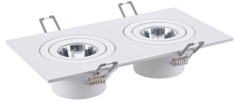 Đèn downlight đôi âm trần philips -đèn LED downlight đôi âm trần Philips