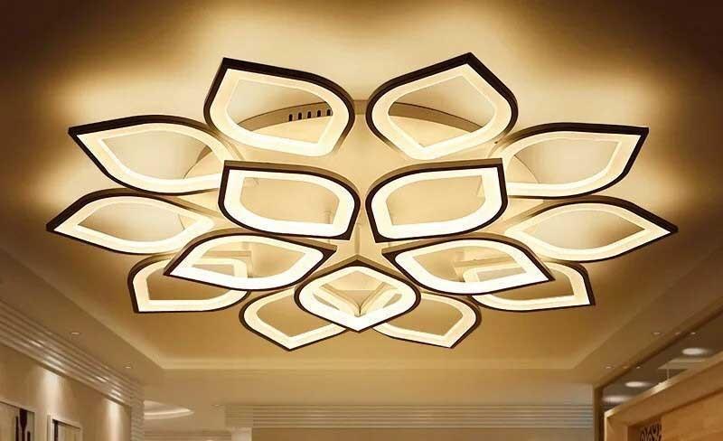 Đèn LED trang trí phòng khách hiện đại ốp trần