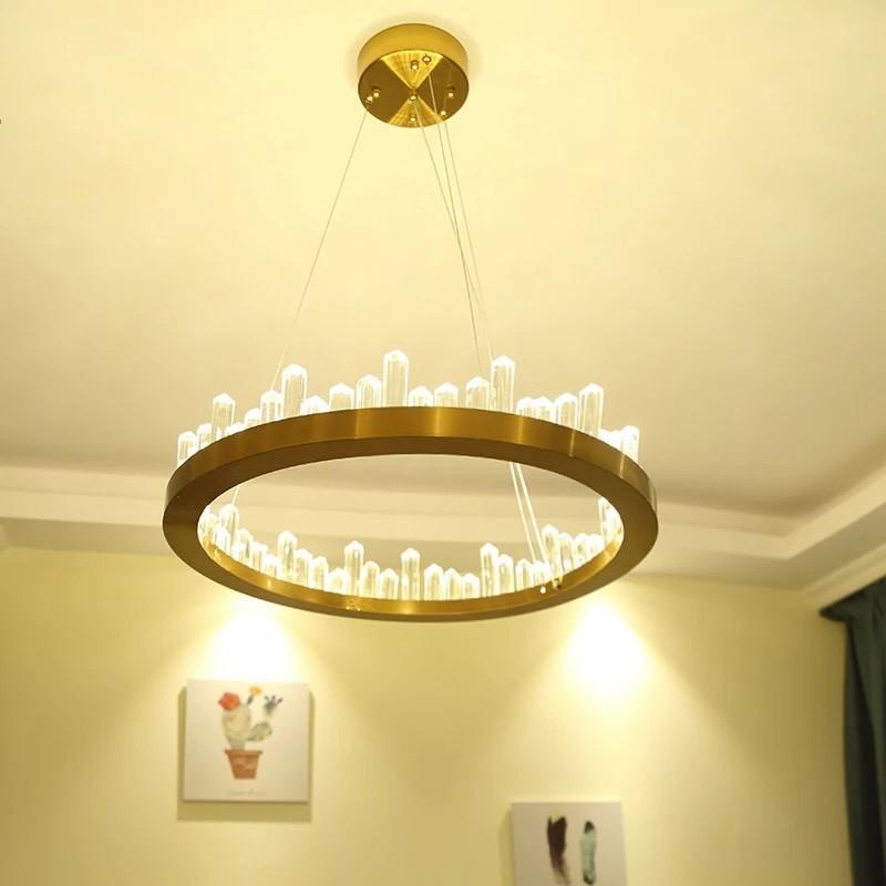 Đèn thả trần trang trí chao thủy tinh HT12