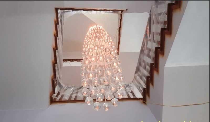 Hình ảnh đèn giếng trời thực tế tại nhà khách hàng