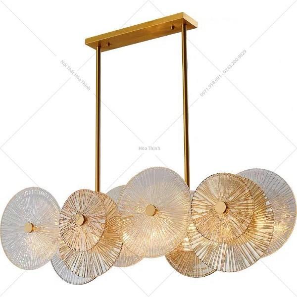 đèn chùm pha lê bàn ăn