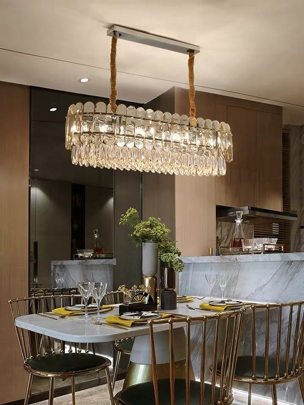 đèn thả bàn ăn pha lê