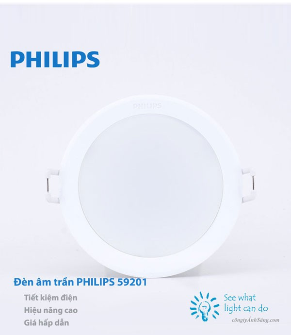 Đèn LED âm trần Philips 59201 MESON 5.5W 30K