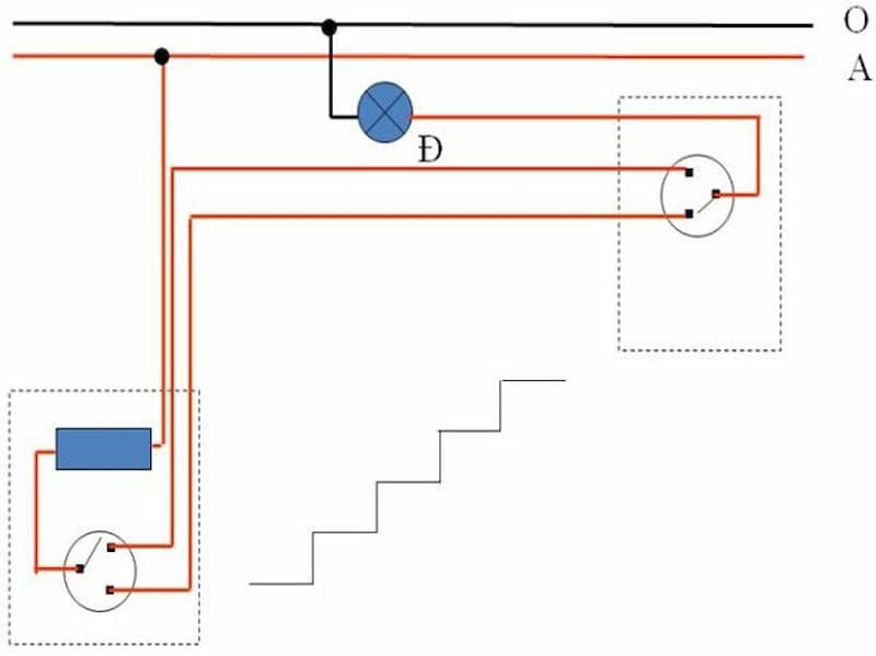 Sơ đồ mạch điện cầu thang