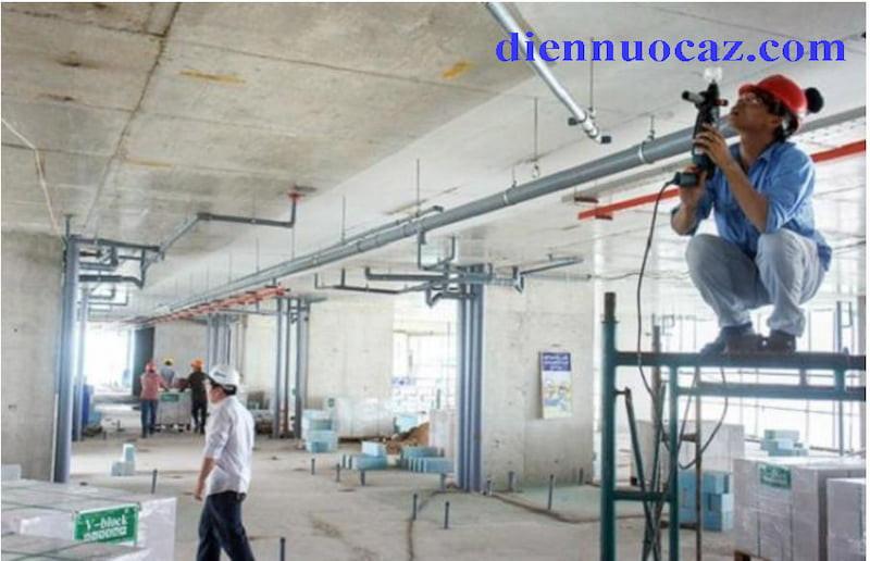 thi công điện nước chung cư
