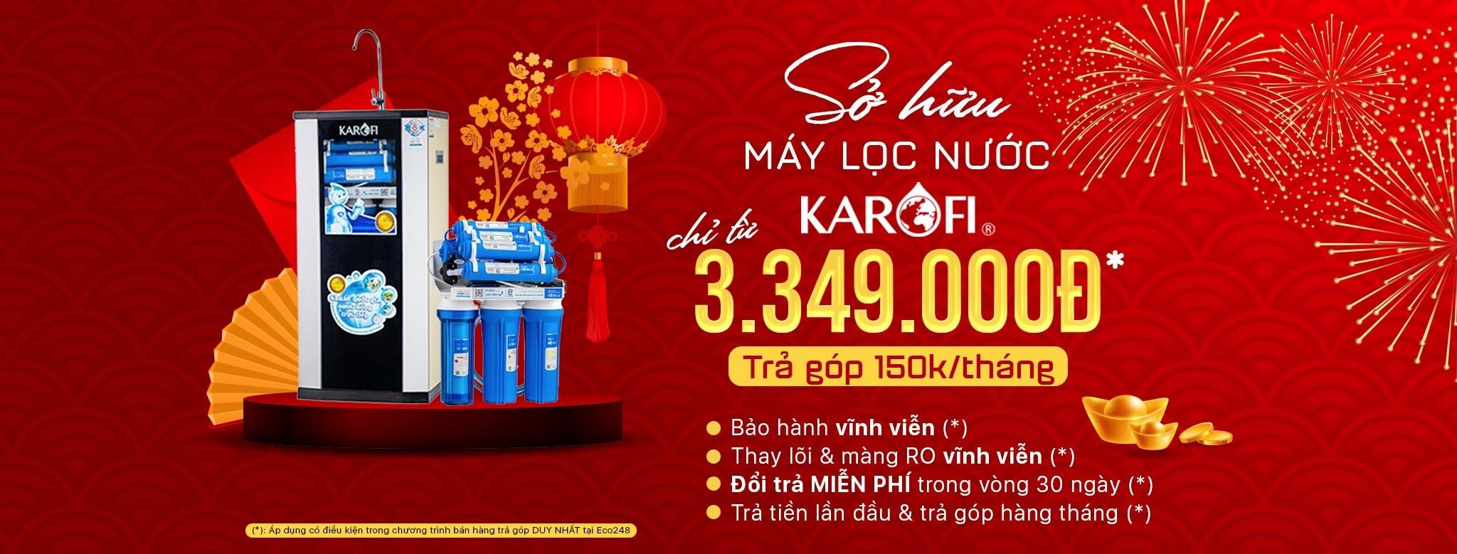máy lọc nước chỉ từ 3.349.000
