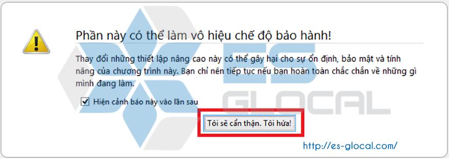 Hướng dẫn tắt javascript trên Firefox,