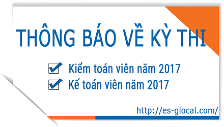 Announcement on the 2017 Vietnam CPA and CA conversion exam