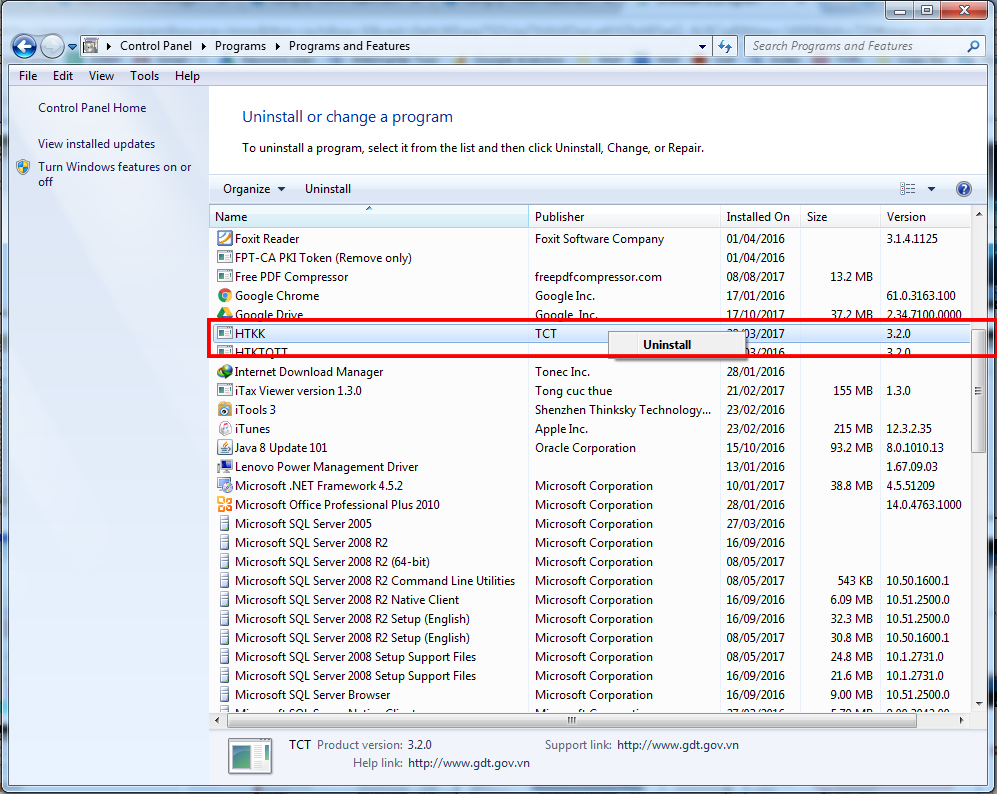 Gỡ bỏ phần mềm không cần thiết trong windows