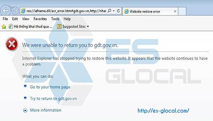 Sửa lỗi We were unable to return you to gdt.gov.vn khi nộp thuế qua mạng