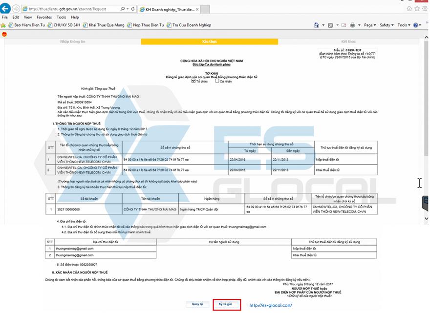 Đăng ký tài khoản giao dịch Thuế điện tử eTax