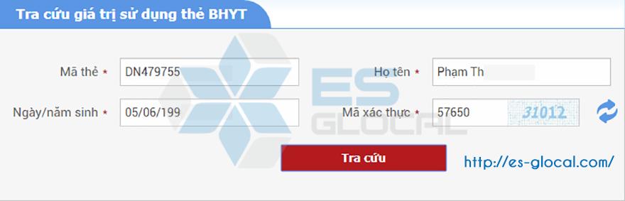 Nhập đầy đủ thông tin trên thẻ BHYT